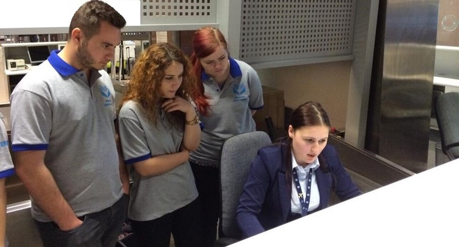 Students having an internship for the company Romanian Airport Services at Henri Coandă Airport, Bucharest
