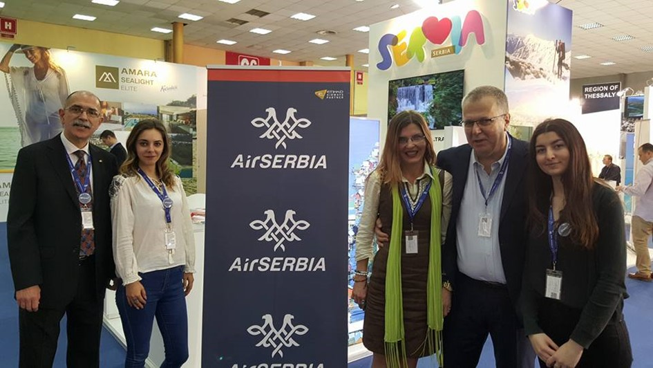 Volunteers for Air Serbia at the Romanian Tourism Fair 2016